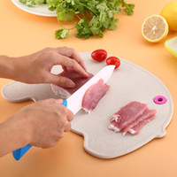 ingrosso materiali di coltello-Chopping Blocks Paglia di grano Materiale Mould Proof Knife Plate Healthy For Children Bambino Solid Food Board Ambientale 5 99zr Y Z