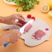 Wholesale knifes block - Chopping Blocks Wheat Straw Material Mould Proof Knife Plate Healthy For Children Baby Solid Food Board Environmental 5 99zr Y Z