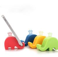 elefante de telefone parado venda por atacado-Criança Louça Colocação Bracket Elefante Móvel Stand Pequeno Elefante Suporte Mini Multicolor Do Telefone Móvel Suporte Preguiçoso Titular Do Telefone Móvel