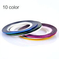 Wholesale 1mm stickers for sale - Group buy 1mm Color Glitter Nail Striping Line Tape Sticker Set Nail Art Decorations DIY Tips For Polish Gel Manicure