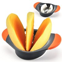 plastikgemüse großhandel-Mango Splitter Fruit Chopper Splitter SlicerTool Edelstahl Kunststoff Küche Gadget Zubehör Gemüse Cutter Obst Cutter