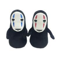 Wholesale miyazaki plush online - 20CM Miyazaki Hayao Spirited away no face male plush toys No face male doll key buckle Keychain pendant doll B0107