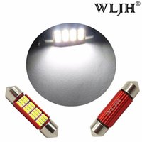 Wholesale volkswagen jetta eos - WLJH Canbus 36mm LED C5W 6411 6418 4014SMD Auto Led Interior Dome Map Trunk Light for Volkswagen Jetta Passat Tiguan Golf Eos