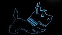 eski moda dekor toptan satış-LS1686-b-Old-Fashioned-Scottie-Köpek-Dükkan-Neon-Işık-Burcu Dekor Ücretsiz Kargo Dropshipping Toptan 8 renk seçmek için