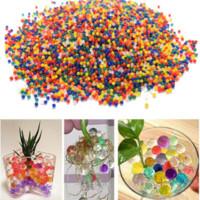 büyüyen boncuklar toptan satış-10000 adet / paket renkli orbeez yumuşak kristal su paintball su boncuk büyümek topları büyümek su renkli oyuncaklar