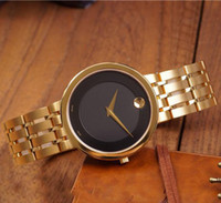 Wholesale geneva chronograph watches - Speck Round New Watches Mens Luxury Brand Geneva Classic Casual Quartz Wrist Watch Analog Stainless Steel Ultra-Thin Wrist Watch Designer