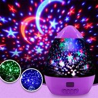 luzes do feriado da estrela da noite venda por atacado-Estrela projetor de luz estrelas lua colorido USB luzes cor diamante estrela projetor pode ser cronometrado LED noite luz presentes de natal