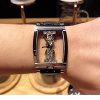 Wholesale White Rubber Swiss Watch - Classsic Transparent Series Male Business Wristwatches Casual Design Openwork Mens Watches Luxury Mechanical Skeleton Watch Swiss made- CR