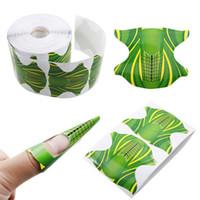 esmalte de uñas pegatina artes al por mayor-Butterfly Nail Gel Finger Extension UV Gel Polish Nail Art Pegamento Pincel Bandeja de papel Set de manicura 2size art sticker