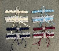venta de ligas al por mayor-Multi Colores Mujeres Liguero Cinturón Estilo Occidental Sexy Lace Bowknot Liga nupcial Accesorios suaves de la boda Venta caliente 11zy BB