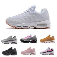 Wholesale Discount Leather Shoes For Women - Discount Brand Fashion Woman 95 Running Shoes For Women Breathable Sports Black White Red Womens Trainers Sneakers Fashion athletic Walking