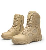 swat stiefel wüste großhandel-Männer Wüste Taktische Stiefel Herren Arbeit Safty Schuhe SWAT Armee Boot Tacticos Zapatos Knöchel Kampfstiefel