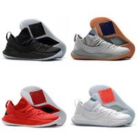 online store e412f f5069 2018 neue Herren Basketball Schuhe Outdoor Airs Sport Männer Mode schwarz  rot gelb KU 5 Sportschuhe Turnschuhe Designer Schuhe 7-12