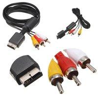 rca av cable ps2 al por mayor-Hot Sales 6FT 1.8M Audio Video AV Cable a RCA para SONY PS2 PS3 para PlayStation 2 3 PS3 Cable de alta calidad del juego