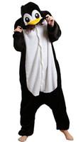 fantasias de pinguins venda por atacado-Unisex Traje Adulto Cosplay Homewear Desgaste Lounge Kigurumi Onesie Pijama Pinguim