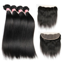Wholesale siyusi for sale - Group buy Siyusi Indian Straight Virgin Hair Bundles With X4 Lace frontal Closure Human Hair Extensions Human Weave Bundles With Closure Top Bulk