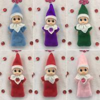 insignias de luz de navidad al por mayor-Juguetes de Navidad Regalo X-mas Elf Doll 6 Style Plush Toy Cute Boy Girl Elves Muñecas de peluche Kid Children Plush Doll Toys