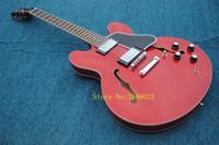 gitarren elektrisch 335 rot großhandel-Kundenspezifische rote E-Gitarre der Jazz-Gitarre 335 335 neue Ankunftsgitarre