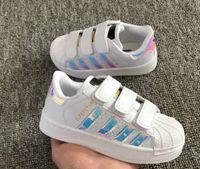 ingrosso scarpe bambino femmina-Scarpe da skateboard bambino Scarpe casual Superstar Sneakers donna bambini Zapatillas Deportivas Mujer Lovers Sapatos Femininos