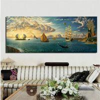 Wholesale ocean art prints - Vladimir Kush Mythology of The Oceans and Heavens,1 Pieces Canvas Prints Wall Art Oil Painting Home Decor (Unframed Framed)