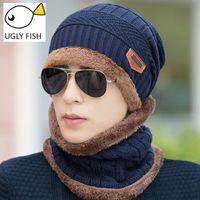 960f5066569 hat neck cap for men Canada - Neck warmer winter hat knit cap scarf cap  Winter