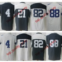 Wholesale Thanksgiving Jerseys - ePacket DHL Free Shipping Mens American Football #4 Jersey Thanksgiving White Navy Wholesale #21 #82 #88 Football Game Jerseys
