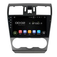 subaru dvd spieler großhandel-Auto-DVD-Player für Subaru Forester 2014 9-Zoll-Octa-Kern 4 GB RAM Andriod 6.0 mit GPS, Lenkradsteuerung, Bluetooth
