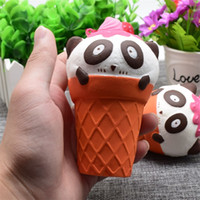 Wholesale panda ornament - Squishy Panda Ice Cream Phone Straps Charm Pendant Cute Squishies Slow Rebound Decompression Toy Kid Toys Gift 7 5sy C