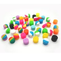 Wholesale stick silicone bho container for sale - Group buy 100pcs MLReusable Round Non stick Silicone Jar Container For E cig Wax Bho Oil Butane Vaporizer Silicon Jars Dab Wax Container