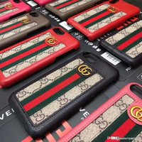 Wholesale stripe iphone hard case online - New Luxury Brand Metal LOGO Stripe Letter G Phone Case Cover for iphone X plus plus plus S hard back cover