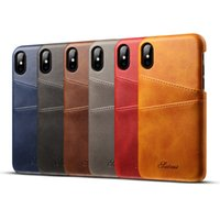 Wholesale apple business credit - Luxury Fashion Business Style Wallet phone Case For iphone 7 With Credit Card pokect Slots leather Cases Cover for cell phone