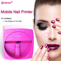автоматический принтер оптовых-NAILS Automatic Nail Painting Easy All-Intelligent 3D Nail Printers Wifi Nail Printer Machine Manicure Equipment free shipping