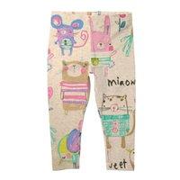 leggings menina graffiti venda por atacado-Meninas leggings outono animal graffiti caráter impressão calças crianças marca criança calças stretch calças casuais crianças