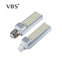 ingrosso 13w bulbo di mais-Lampadina a LED 5W 7W 9W 11W 13W E27 G24 Lampada LED per lampada a mais Corn SMD 5050 Faretto a 180 gradi AC85-265V Lampada a sospensione orizzontale