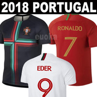 Wholesale jersey ronaldo - New 2018 Portugal World Cup jerseys RONALDO J.MARIO NANI QUARESMA EDER Football shirts 18 19 Portugal National Team home away Soccer Jerseys