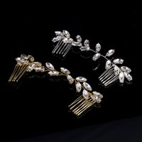 Wholesale wedding art deco jewelry for sale - Group buy Gorgeous Handmade Art Deco Rhinestones Crystals Wedding Hair comb Bridal Headpieces Hair accessories Women Headchain Jewelry S918