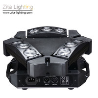 2Pcs / Carton Zita Lighting Spider Lights 9 Eyes LED Moving Head Triangolo rotante 9X12W RGBW Stage Lighting Beam Scanner DMX DJ Disco Effect