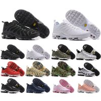 Wholesale Wine Air - 2018 Top Quality TN Air Mens Shoes Air Plus TN all white black red wine gold Sports Chaussures TN Requin Running shoes 36-46