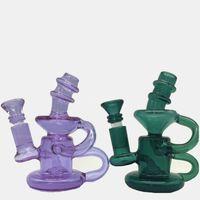 Wholesale Mini Ceramic Bowls - Bong Glass Dab Rig Bongs Water pipes wax Oil Rigs Mini perc pipe Honeycomb small filter heady beaker bowl Ceramic nail purple colorful