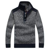Wholesale Wholesale Mens Sweaters - Mens Pullover Sweaters Autumn And Winter Casual knitwear Male Pullovers Half Turtleneck Classic Men's Sweaters Wool Sweater