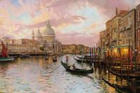 venise peintures à l'huile achat en gros de-La Venise Thomas Kinkade Peintures À L'huile Art Mur Moderne HD Impression Sur Toile Décoration No Frame