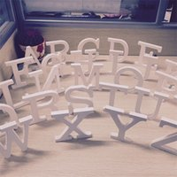 Wholesale Wooden Props - 10.5CM Wooden English Letter Alphabet Ornament Wedding Party Decoration Photography Take Photo Props Furnishing Articles 1 2zn C R