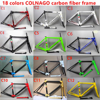 Wholesale colnago road bike frames - 2018 HOT SALE 18 colors colnago C60 carbon road frames carbon frame 46 48 50 52 54 56cm T1000 carbon bike frames DPD duty free shipping