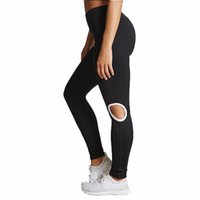 Wholesale wholesale quality yoga pants for sale - Women s Knee Hollow Yoga Pants High Quality Sexy Solid Color Workout Leggings Fitness Sports Gym Running Yoga Athletic Pants
