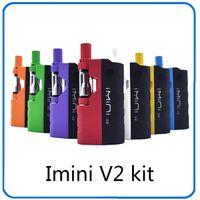 батареи подходят v2 оптовых-Подогрев батареи Imini V2 650mAh Box Mod аккумулятор для толстых масляных картриджей испаритель 510 резьба батареи подходят все танк 0268100-1