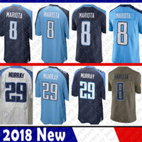 camisetas demarco murray al por mayor-Color Rush Limited Tennessee 2 Derrick Henry Titan Jersey 8 Marcus Mariota 29 Camisetas de fútbol Demarco Murray