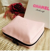 Wholesale Elegant Clutches - Pink Luxury CC Women zipper elegant famous beauty cosmetic case luxury makeup organizer bag designer toiletry clutch bag