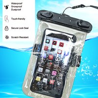 Wholesale touchscreen case - PVC Luminous Waterproof Phone Case Cover for Cell Phone Touchscreen Mobile iphone 7 Water Proof Underwater Transparent Pouch Bag
