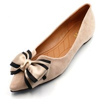 Wholesale Office Flat Shoe For Lady - Casual Shoes women office ladies shoes lady cute bow tie pointed toe flats female cute spring & summer slip on shoes for women