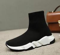 ingrosso moda giovani uomini neri-Nuove calze nere primaverili Calzettoni alte elasticizzate in maglia da uomo Giovani scarpe da ginnastica di grandi dimensioni per uomini e donne